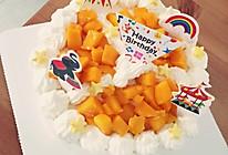 6寸水果奶油蛋糕的做法