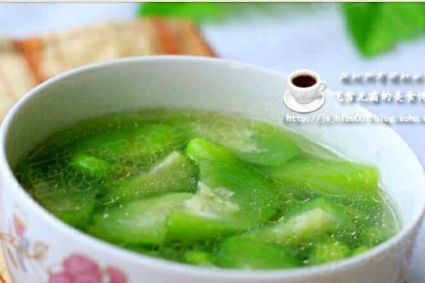 丝瓜面条汤的做法