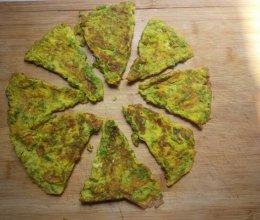 鸡蛋青椒饼的做法