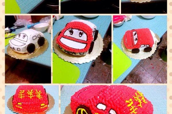 汽车蛋糕的做法