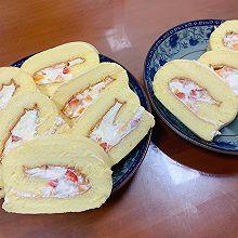 软嫩水果奶油蛋糕卷