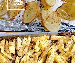 #夏日撩人滋味#烤薯角和薯条的做法
