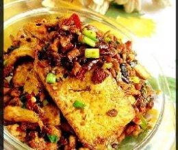 香葱肉末干烧老豆腐的做法