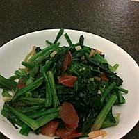 腊肉虾仁炒菠菜