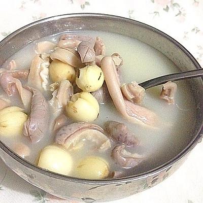 补脾胃益气虚的莲子猪肚汤——附:猪肚清洗详细。