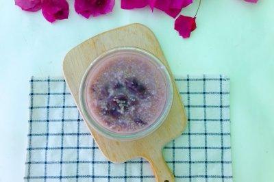 紫薯小米大米粥