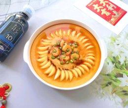 #味达美名厨福气汁,新春添口福#玉子豆腐虾仁蒸蛋的做法