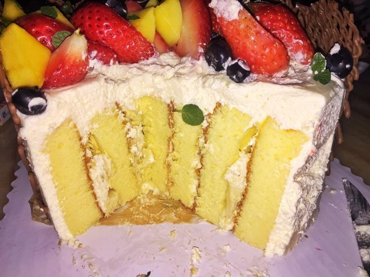 祝寿水果蛋糕(竖卷)