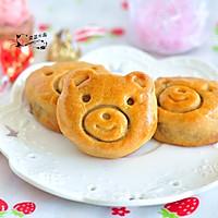 小熊绿豆饼#柏翠辅食节-烘焙零食#
