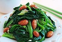 凉拌花生米菠菜  的做法