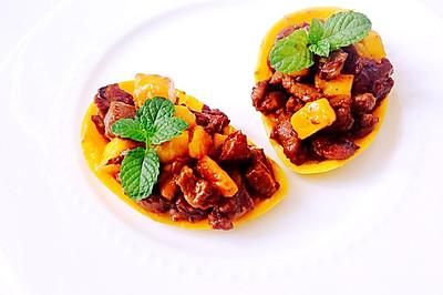 芒果牛肉粒