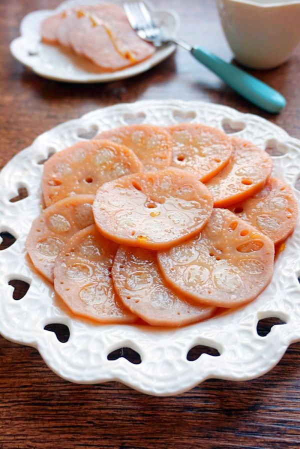 焦糖糯米藕的做法
