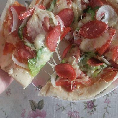 懒人香肠披萨