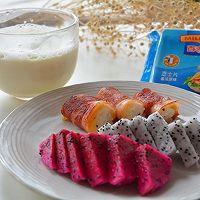 营养快手早餐-培根芝士饭卷#百吉福食尚达人#的做法图解7