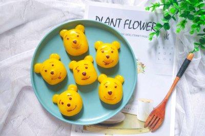 可爱的小熊南瓜糯米糕