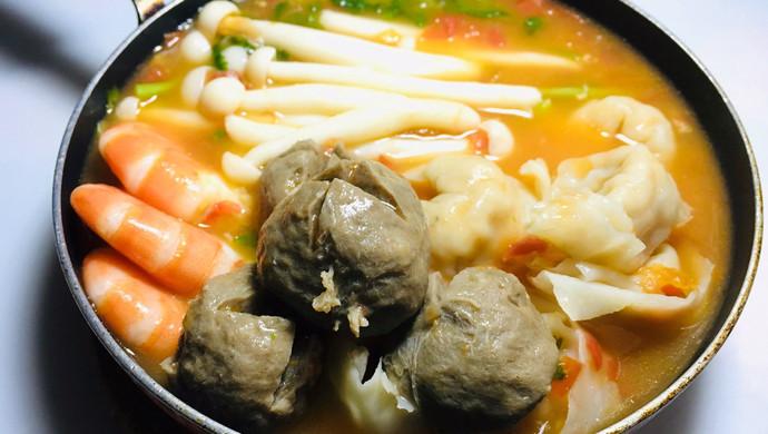 牛肉丸番茄小火锅