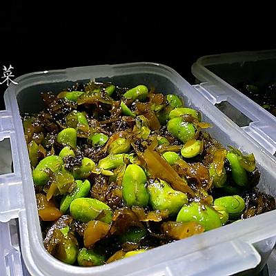 咸菜炒毛豆子 最下饭的早饭菜