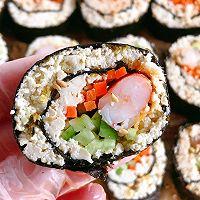 减脂吃❗关晓彤同款低卡无米寿司❗超饱腹❗的做法图解11