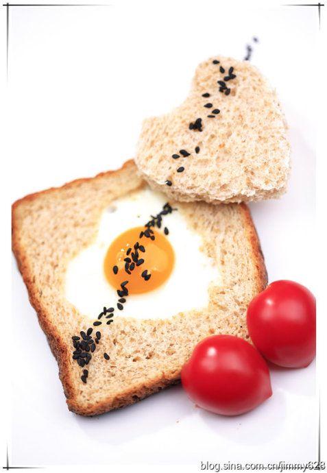 心型面包煎蛋的做法