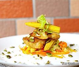 玉米笋香煎龙利鱼/6块钱能吹爆的减肥高级料理的做法