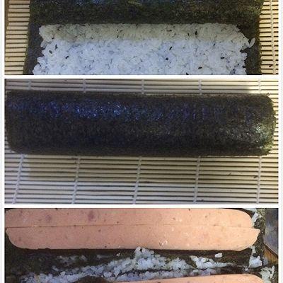 花样寿司---方型火腿花瓜鸡蛋卷的做法 步骤4