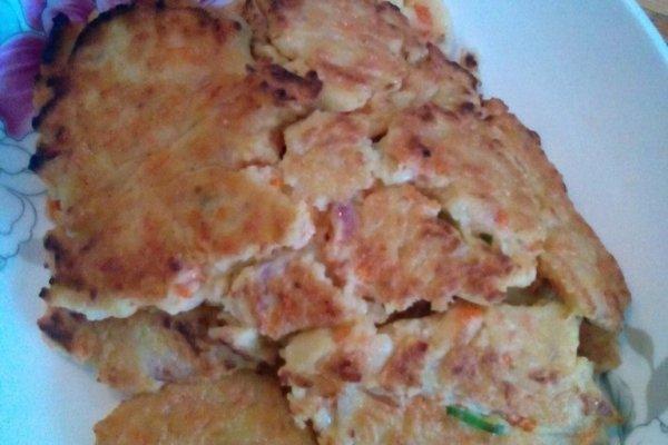 豆浆渣菜饼的做法