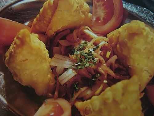 印度炸咖喱角配牛肉沙拉的做法