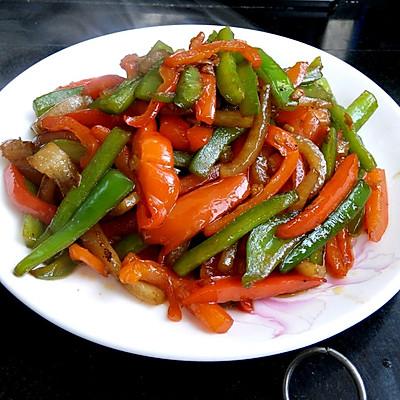菜椒炒肉片