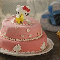 HOLLETKITY粉色双层翻糖蛋糕#九阳烘焙剧场#的做法图解54