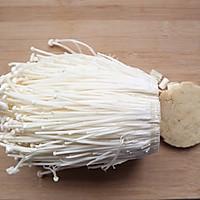 #换着花样吃早餐#蒜蓉金针菇的做法图解1