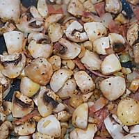 #助力高考营养餐#培根芝士焗口蘑的做法图解4