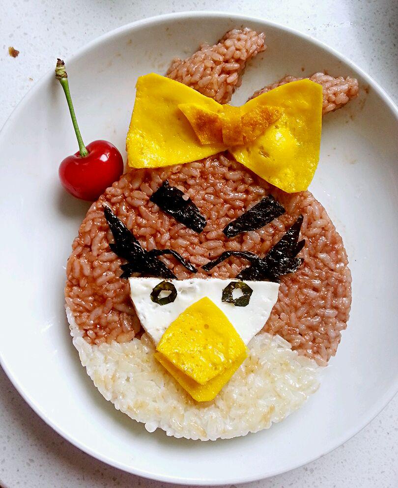 樱桃汁饭之愤怒的小鸟(宝宝食谱)