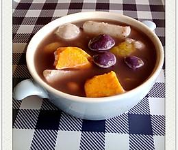 芋圆二号(芋圆,薯圆,红豆沙,芋头,红薯)的做法