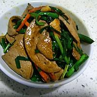 韭菜炒猪肝的做法图解7