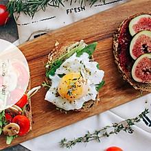開放式蔬果三明治