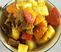 南瓜炖牛肉的做法
