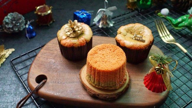 #令人羡慕的圣诞大餐#圣诞杯子蛋糕的做法