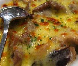 芝士焗奶油蘑菇的做法