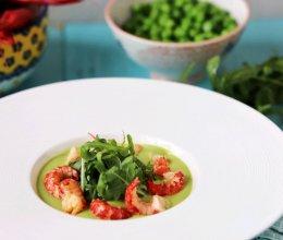 #花10分钟,做一道菜!# 小龙虾豌豆浓汤的做法