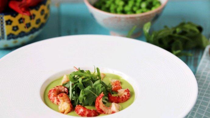 小龙虾豌豆浓汤