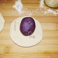 紫薯开花馒头的做法图解8