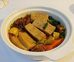 酒酱杂蔬豆腐煲的做法