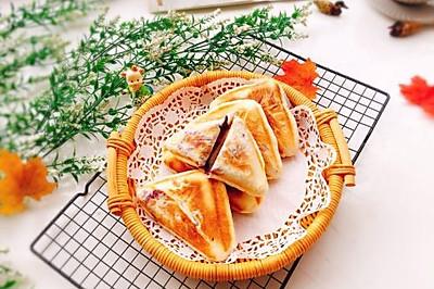 #精品菜谱挑战赛#奶香紫薯发面饼