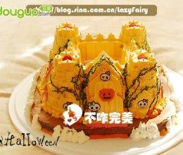 万圣节城堡南瓜酸奶慕斯蛋糕的做法