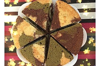 迷彩八寸戚风蛋糕