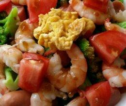 西兰花虾仁沙拉的做法