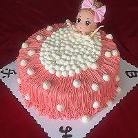 沐浴芭比娃娃蛋糕#豆果5周年#
