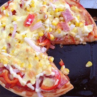 玉米培根pizza