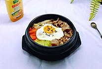 #太太乐鲜鸡汁蒸鸡原汤#肥牛石锅拌饭的做法