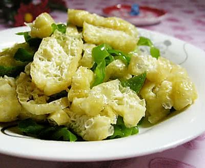 油豆腐炒青椒